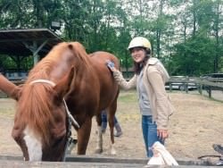 ファームステイで乗馬体験